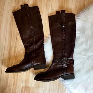 Vince Camuto Brown Leather Riding Boot